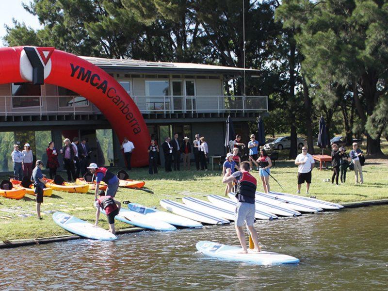 The Paddle Hub headquarters on the lake