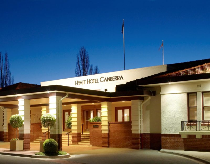 Hyatt Hotel Canberra entrance