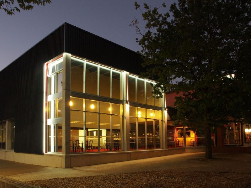 The Street Theatre exterior at night