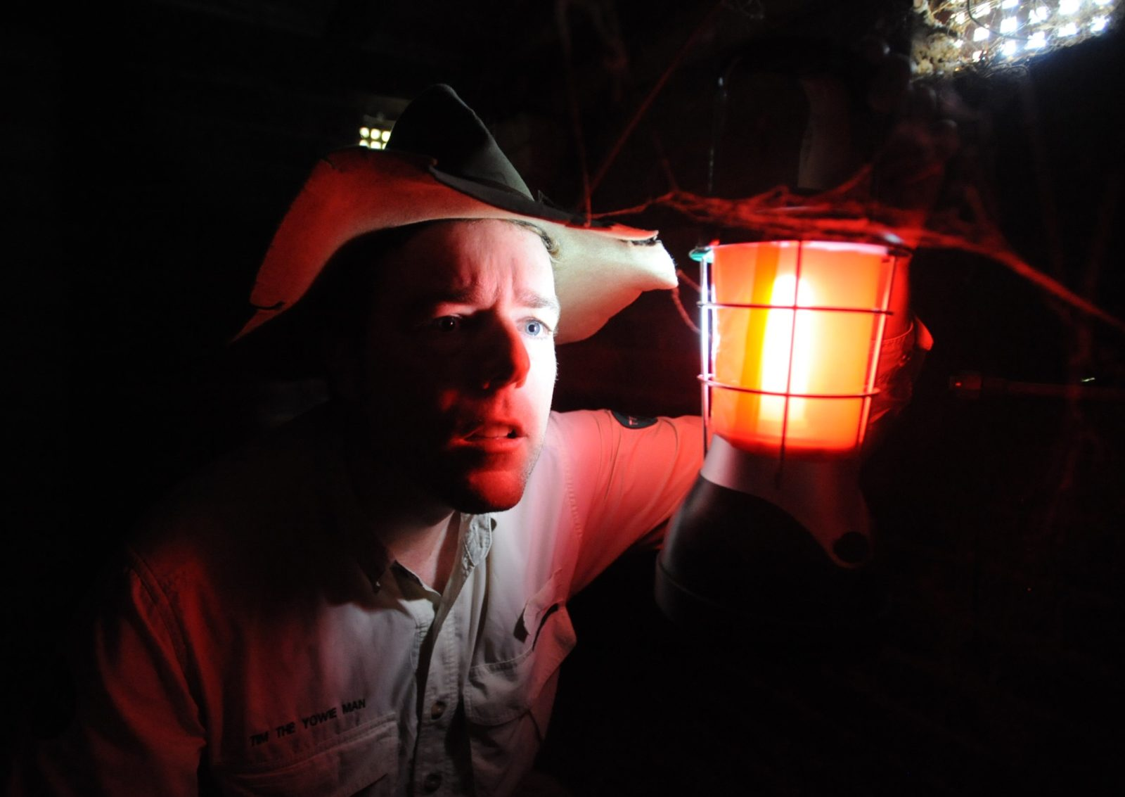 Tim the Yowie Man explores Canberra by torchlight