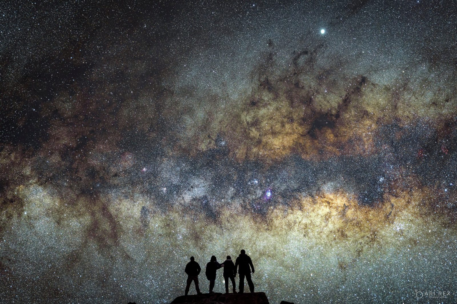 A portrait of a group of nightscapers with the Milky Way