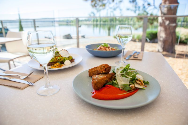Waterfront dining at the Museum Cafe