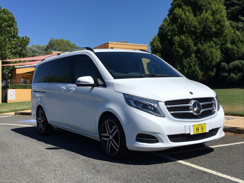 Mercedes V Class on location at Shaw Vineyard Estate
