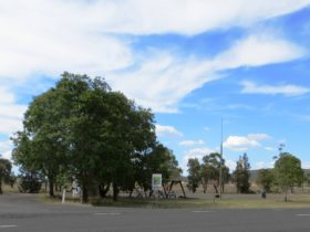The Rest Area is all weather and features non-potable water, sheltered seating and sundial