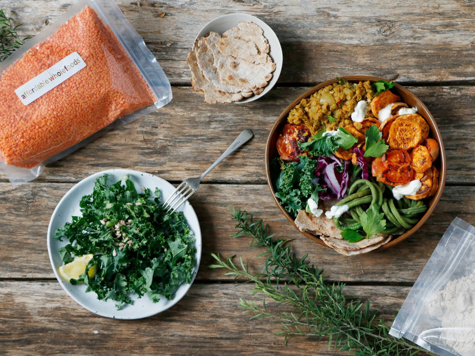 Spiced Buddha Bowl with Lentils