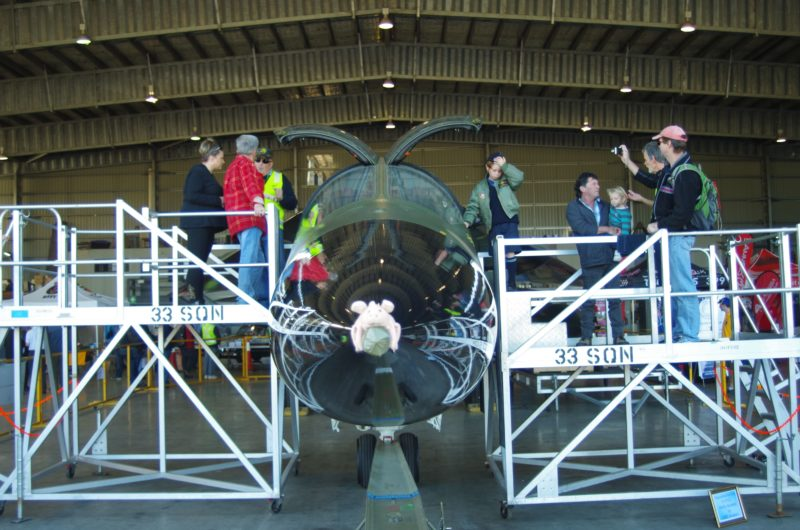 HARS Aviation Museum - Sitting In The Cockpit