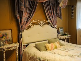 Victorian style queen bedroom