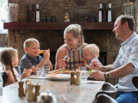 family at Alpine Larder