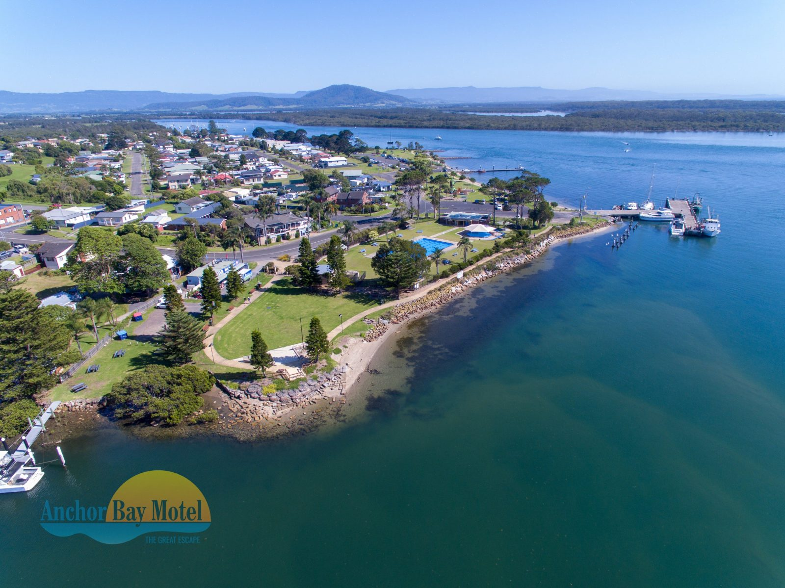 Enjoy the riverfront foreshore across the road from the motel, with pool and cafes nearby.