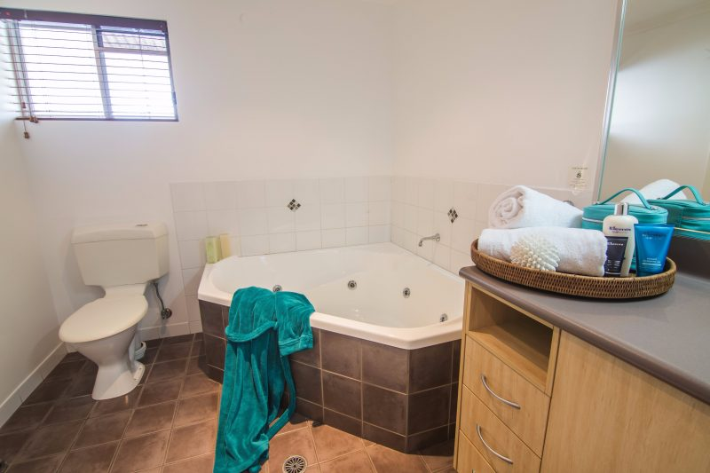 One Bedroom Spa Apartment Bathroom and Spa