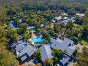 Birds-eye Angourie Resort