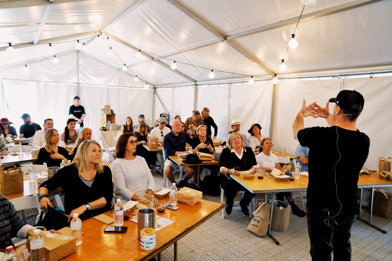 Mark Allsop giving a Masterclass at the South Coast Food and Wine Festival