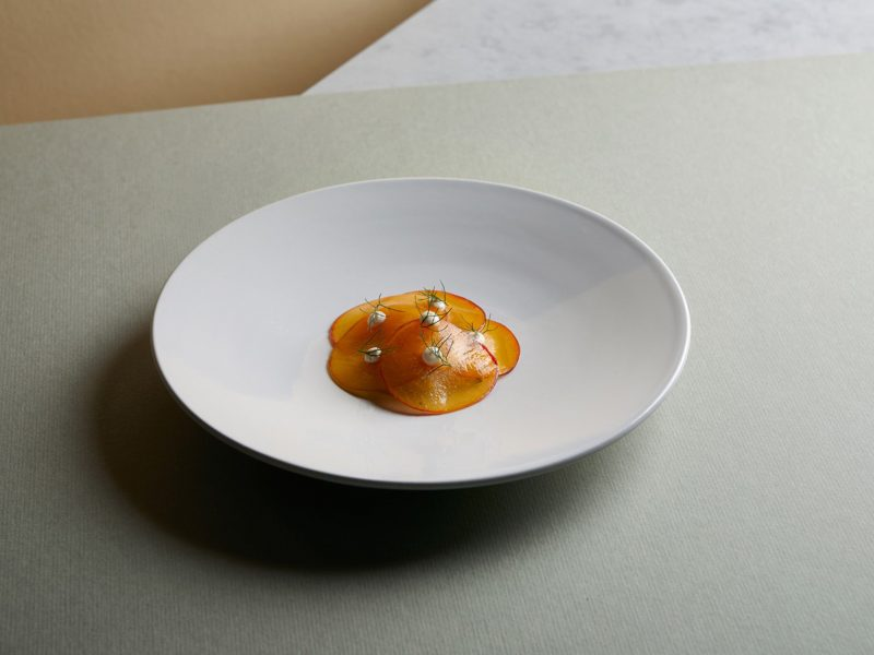 swordfish • peach • fennel • almond