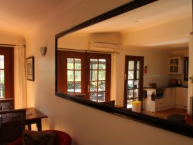 Mirror shot, lounge kitchen dining