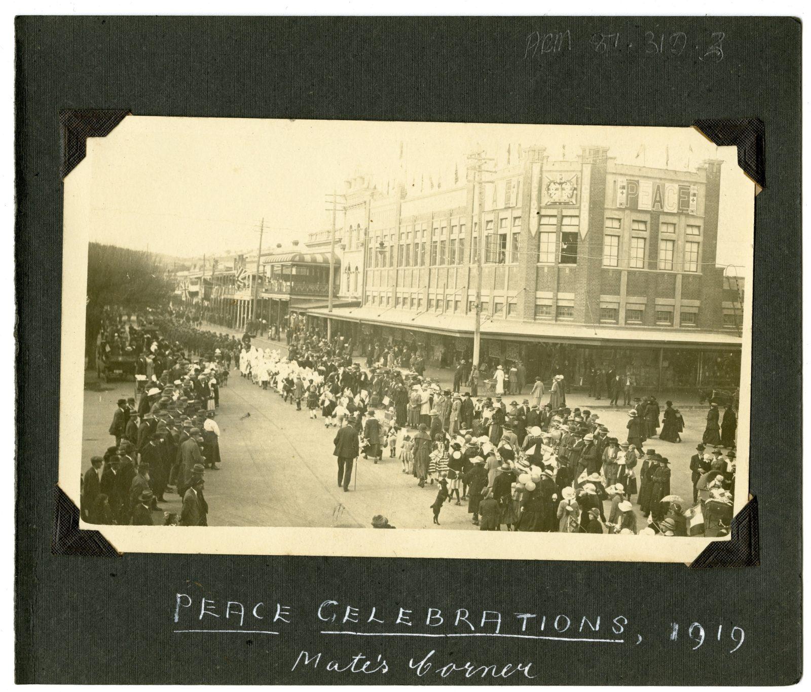 Dean Street Albury 1919