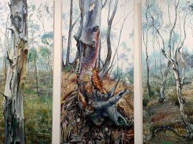 "Oil painting ""Purple Gum"" by Robert Kleinboonschate"