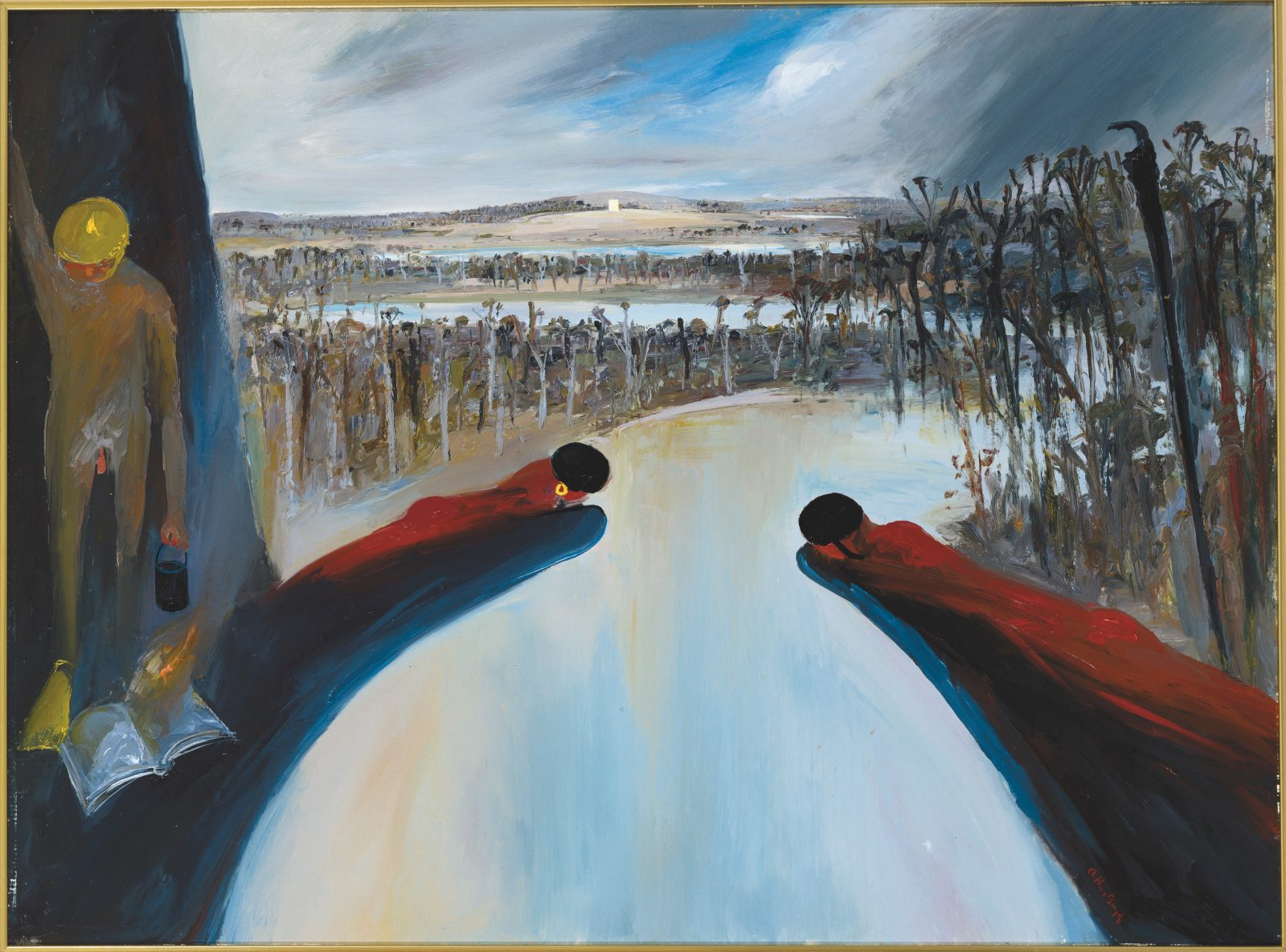 Arthur Boyd, Hanging rocks bathers and Mars, 1985, oil on canvas. Bundanon Trust Collection