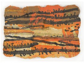 Image: Ros Auld and Tim Winter collaboration, 'Remembering Tibooburra' 2004, fired paper and clay
