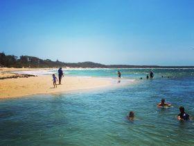 Currarong Beach and lagoon