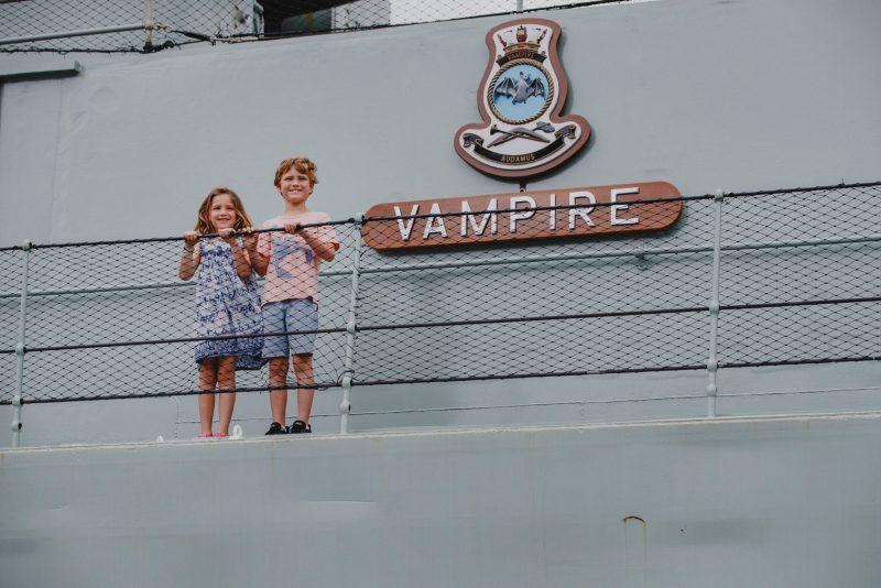 Kids aboard HMS Vampire