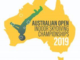 2019 Australian Open Indoor Skydiving Championships Logo
