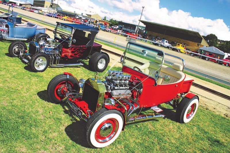 Hot rods on the grass