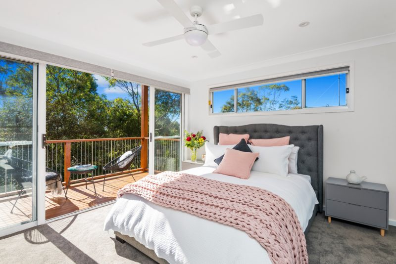 Offering a large bedroom space for a joyful nights sleep, with private outdoor deck area.