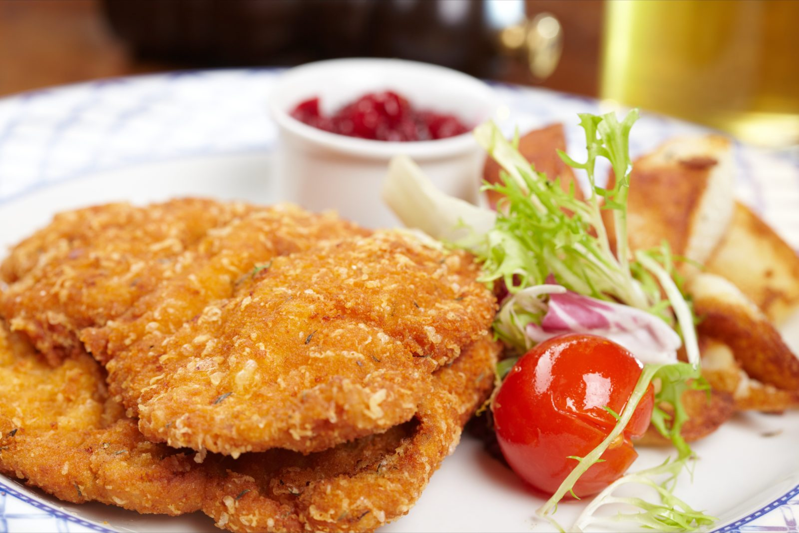 Image of a schnitzel on a plate