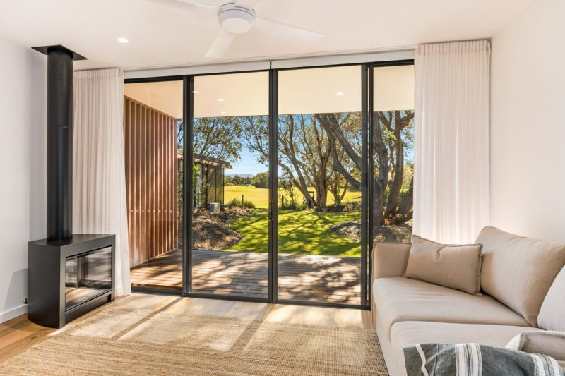View of villa looking out to the trees and golf course, luxury accommodation, golf holidays