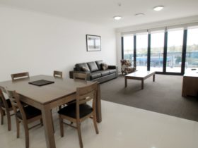 Large lounge and dining areas