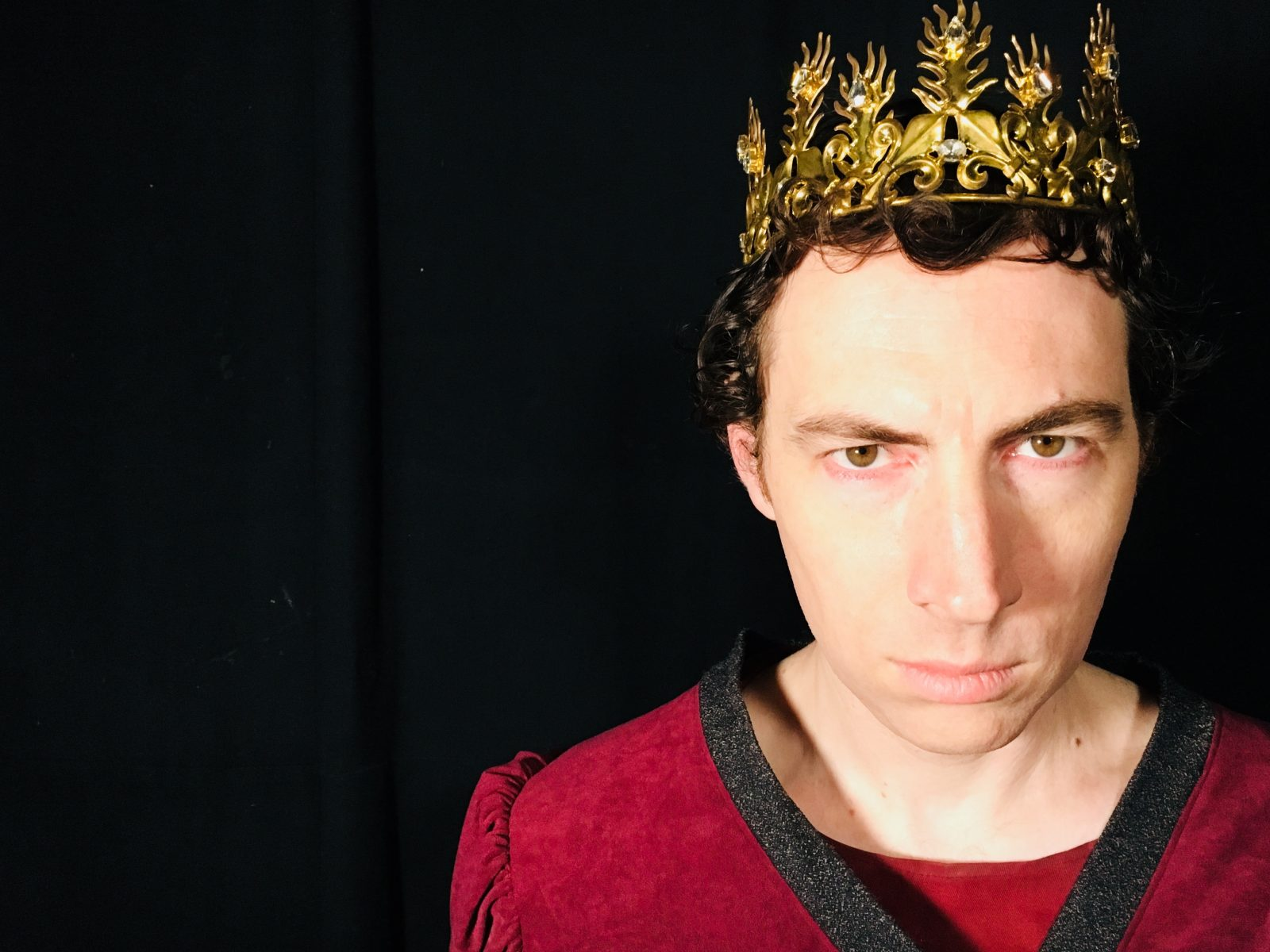 Richard Cox as King John in The Life and Death of King John for Bard On The Beach.