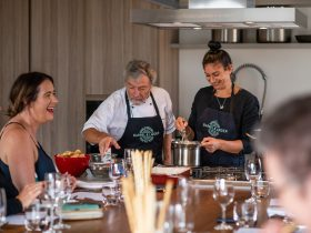 Enjoy the fun, whilst learning to cook delicious local produce matched with perfect Ross Hill Wines