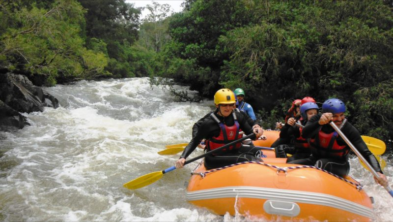 White water rafting the Barrington River with Barrington Outdoor Adventures