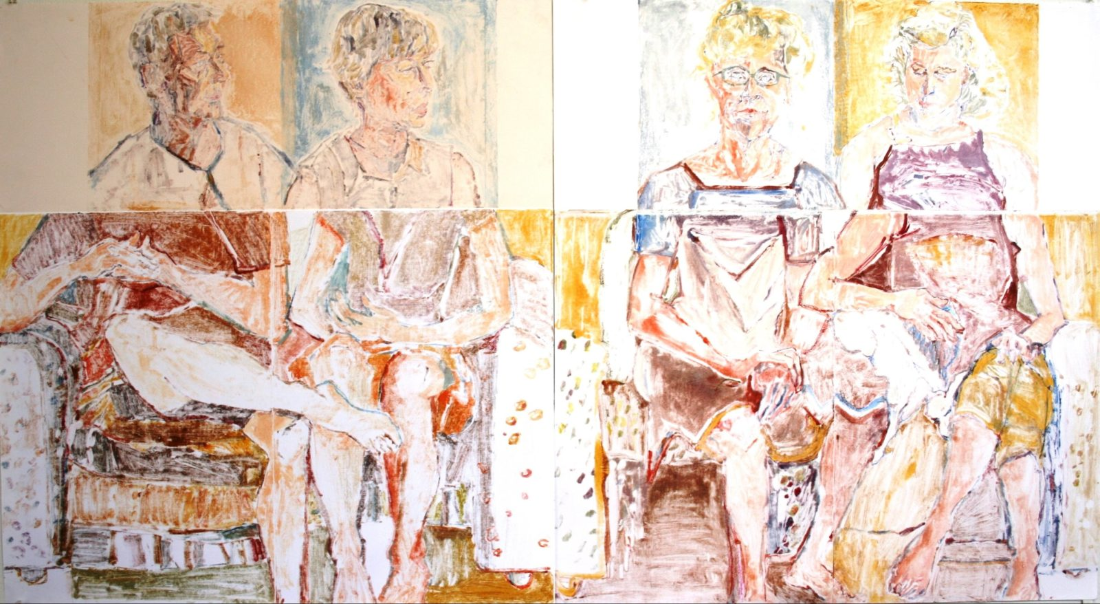 This is The Family Lounge, the painting that won the last Basil Sellers Prize in the Eurobodalla. It was painted by Susan Chancellor
