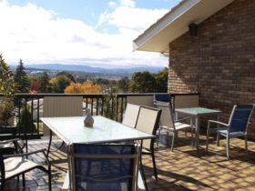 Picture of deck with views over Bathurst