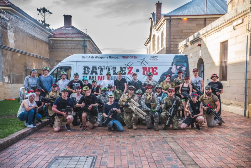 Group photo of particpants of Battlezone Playlive event