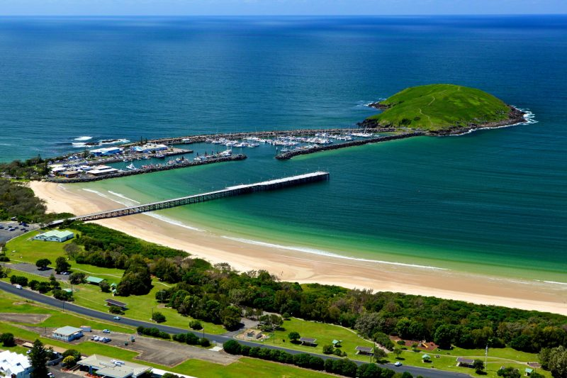 Location of the Coffs Harbour Triathlon swim course