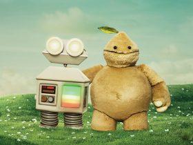 Robot and Beep illustration