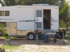 Caravan in Belah campground. Photo: Boris Hlavica
