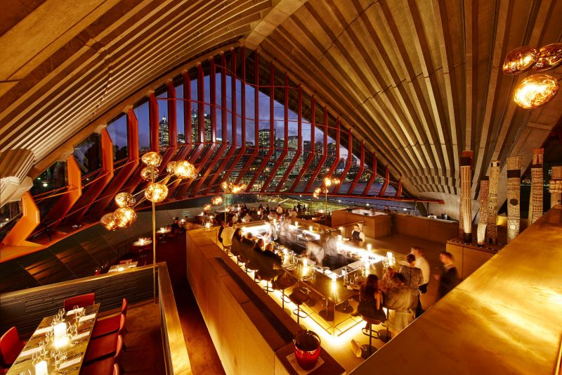 Cured and Cultured counter on the central level of Bennelong overlooking The Restaurant