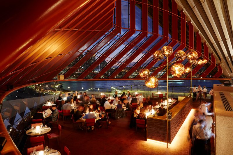 The Restaurant located on the lower level of Bennelong