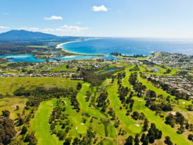 Bermagui Country Club golf course aerial