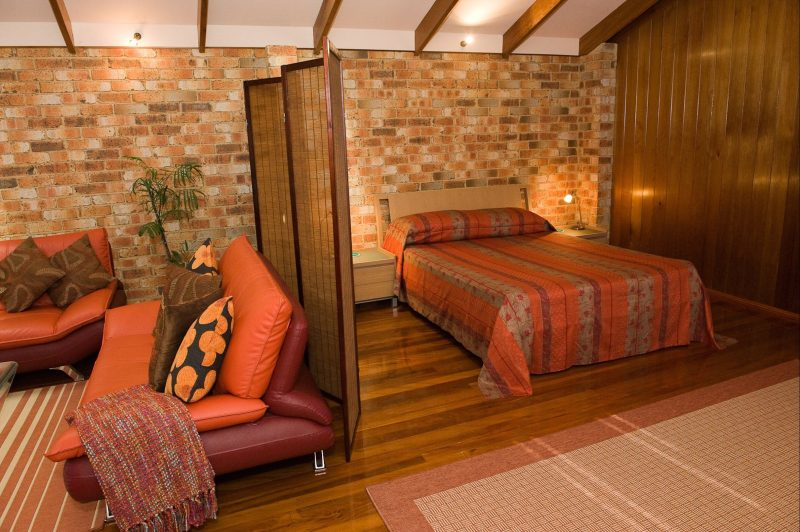 Comfortable lounge and sleeping areas