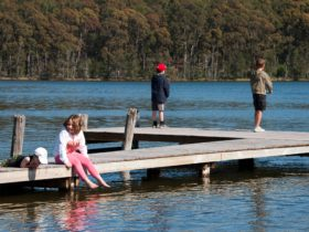 Fishing form BIG4 Bungalow Park on Burrill Lake's private Jetty