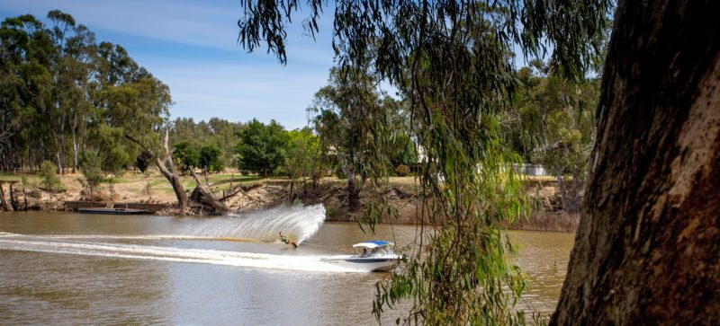 Go water skiing on the Edward River