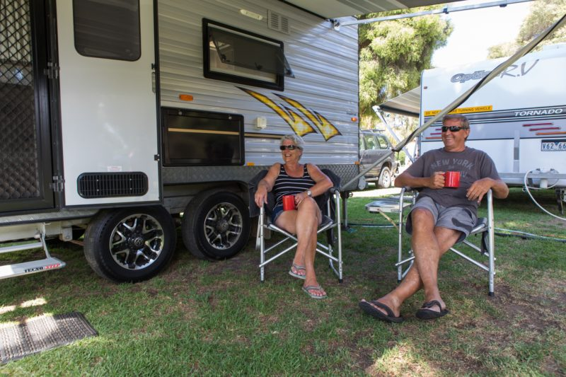 Caravanners at BIG4 Wagga Wagga Holiday Park in Wagga Wagga