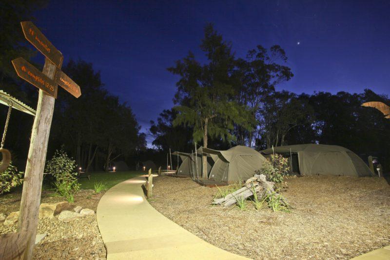 Under the stars at Billabong Camp, Taronga Western Plains Zoo, Dubbo
