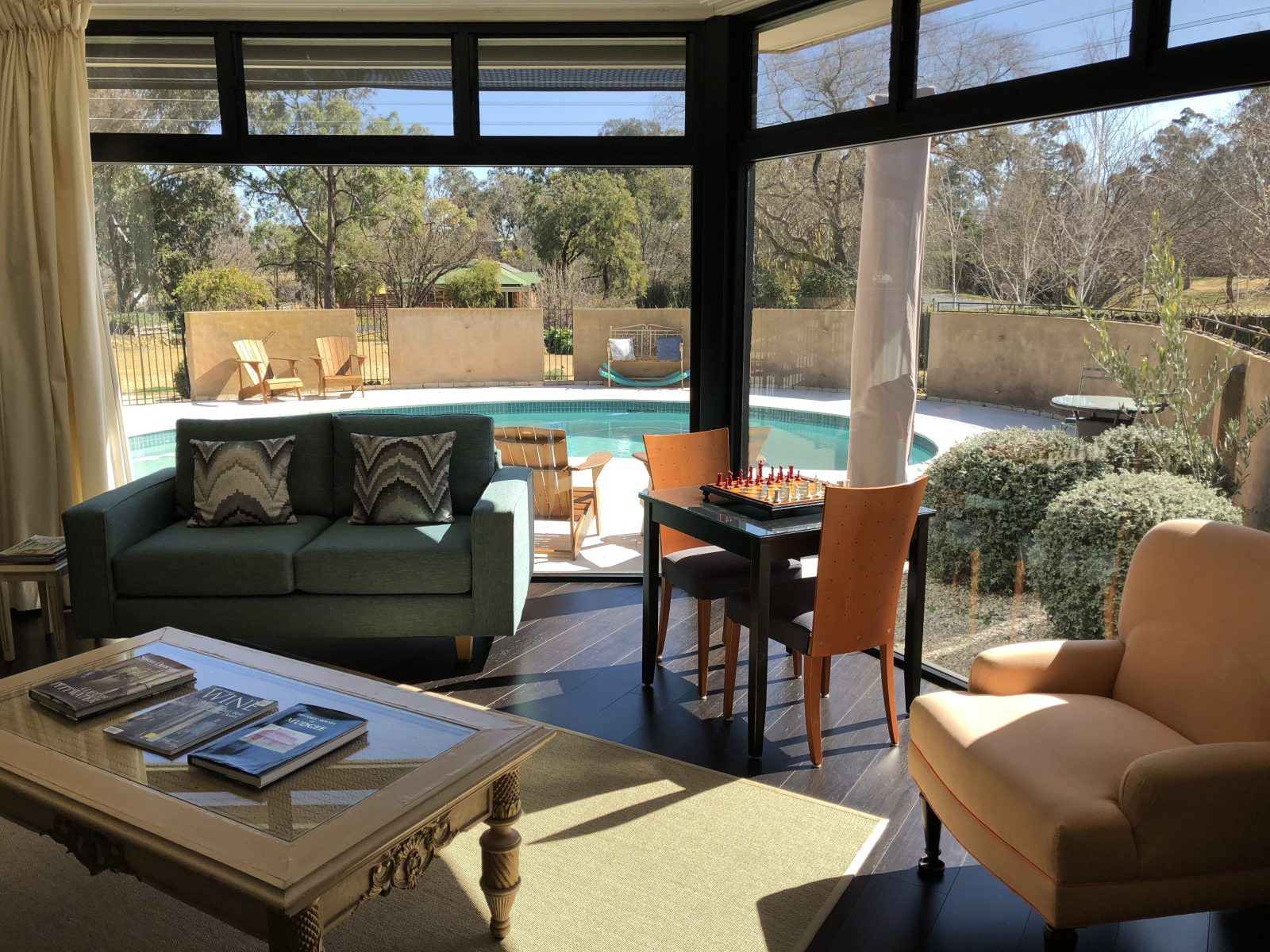 Sun-filled lounge