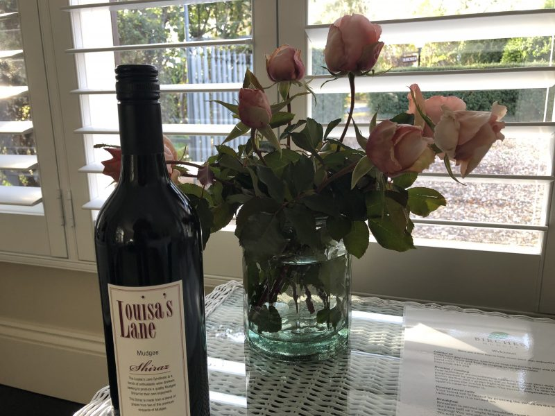 Local wine on arrival