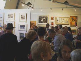 Blackheath Art Society crowded exhibition area
